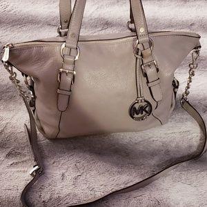 Michael Kors Leather Gray Purse Handbag Chain